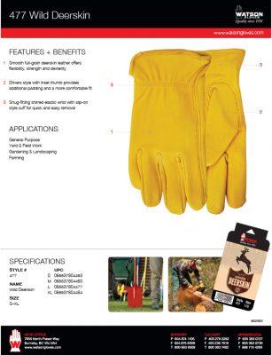 27f01a48490f5 477 Wild Deerskin – Watson Gloves